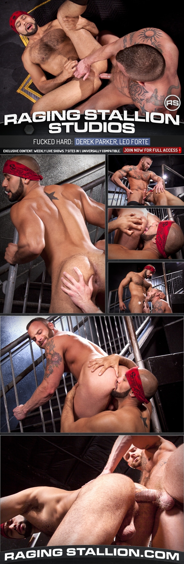 Fucked Hard with Derek Parker and Leo Forte at Raging Stallion