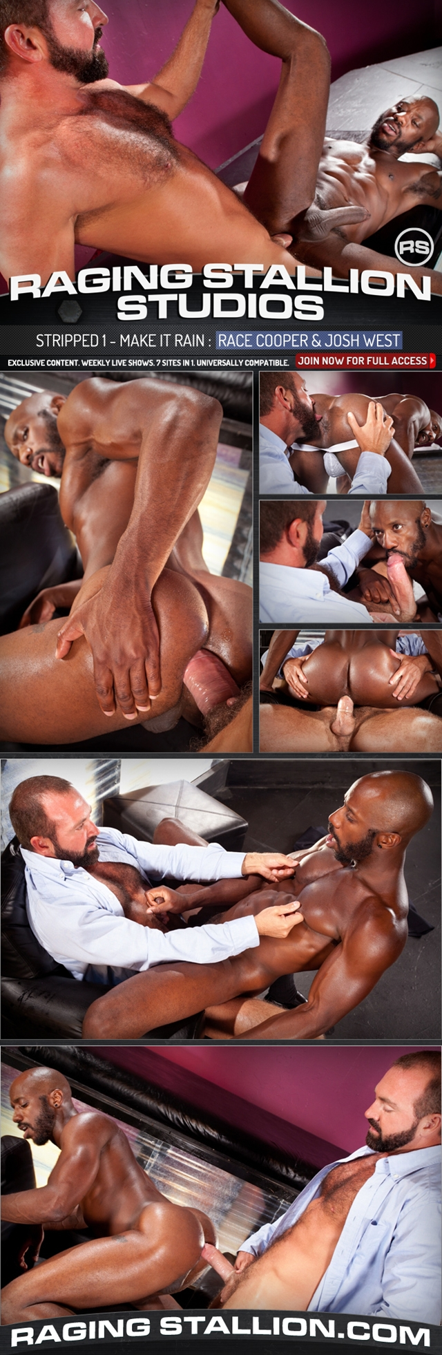 Josh West and Race Cooper at Raging Stallion