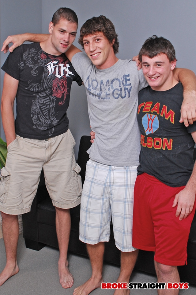 Young nude boys Paul Canon, Scott Harbor and John Silver at Broke Straight Boys