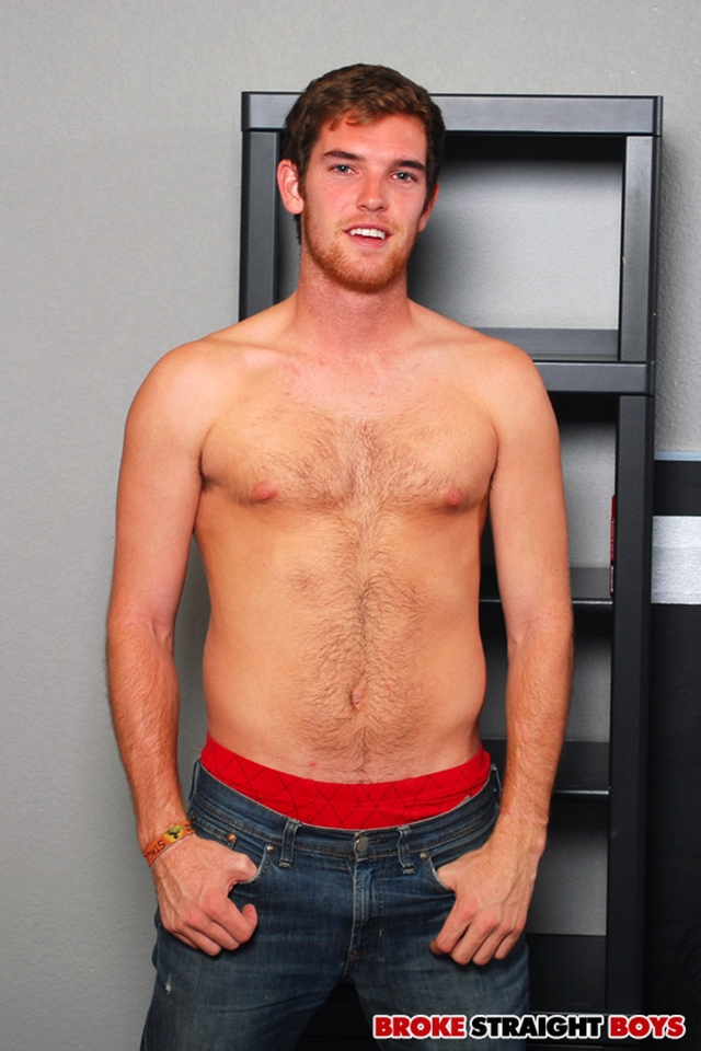 Sexy young straight hunk Tyler Blaze jerking for cash at Broke Straight Boys