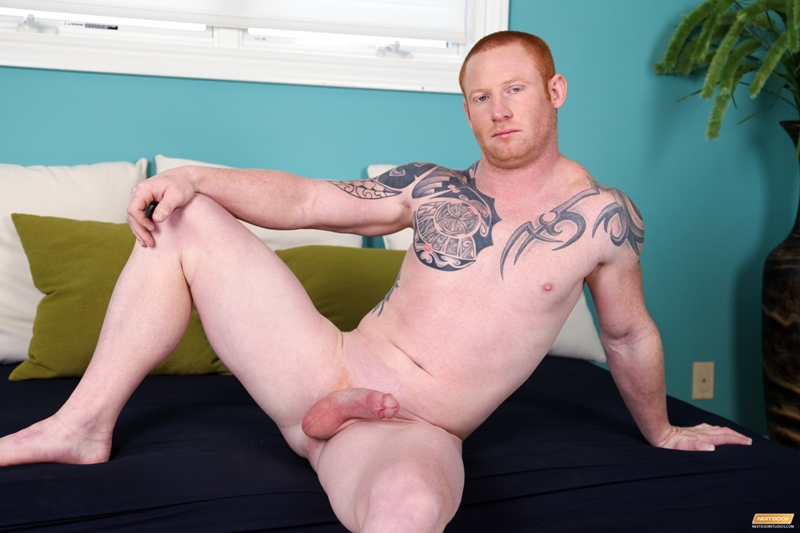 Markie More lays face down legs spread as Jordan A shoves his face into his tight ass hole