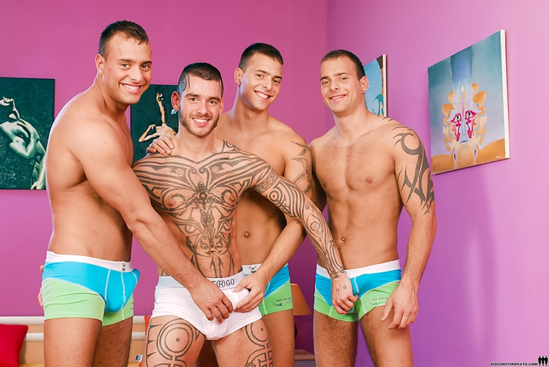 Joey Visconti, Logan McCree, Jason Visconti and Jimmy Visconti