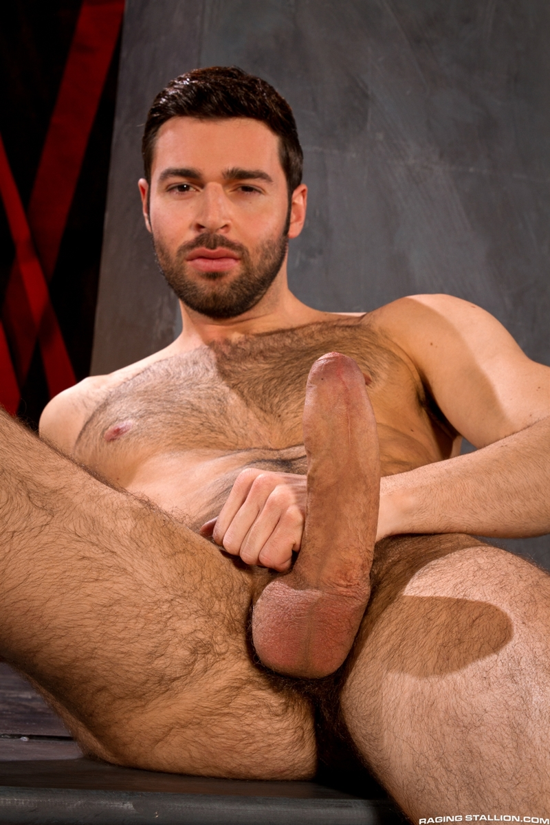 Dario Beck is in a daze of ecstasy while he sucks Sebastian Kross' thick meaty shaft