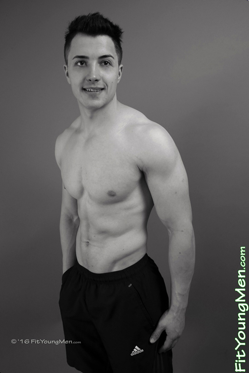 Hot young sportsman Stefan Gilbert strips down to his tight sexy undies