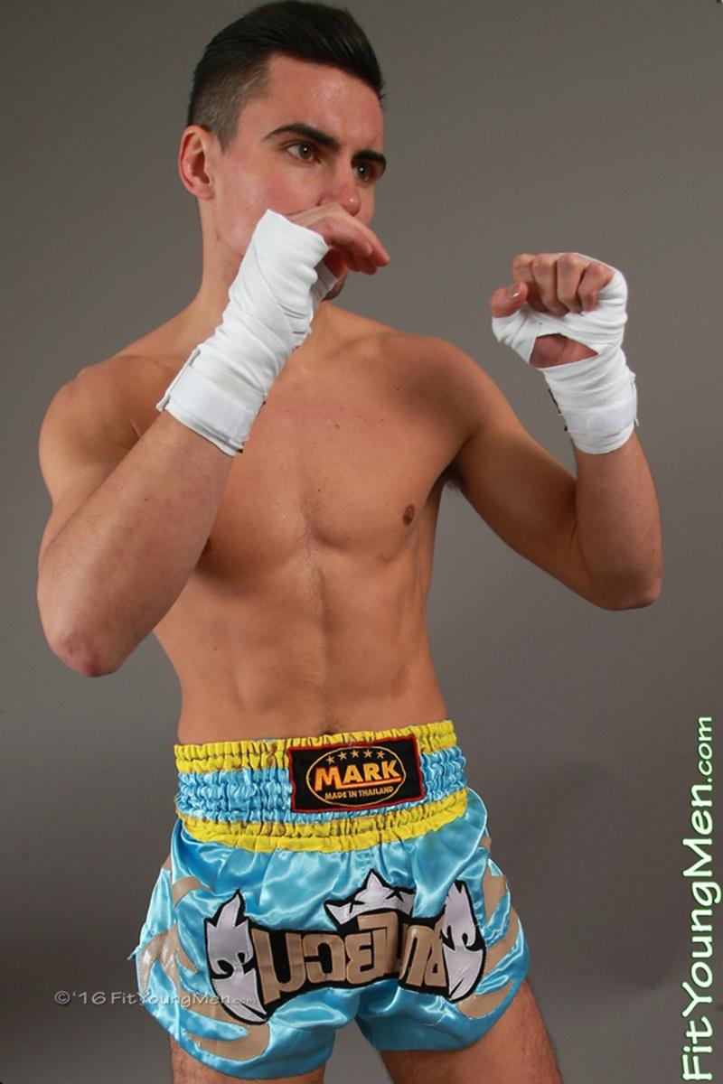 22 year old Thai Boxer Julian Morris strips down to his tight sexy undies