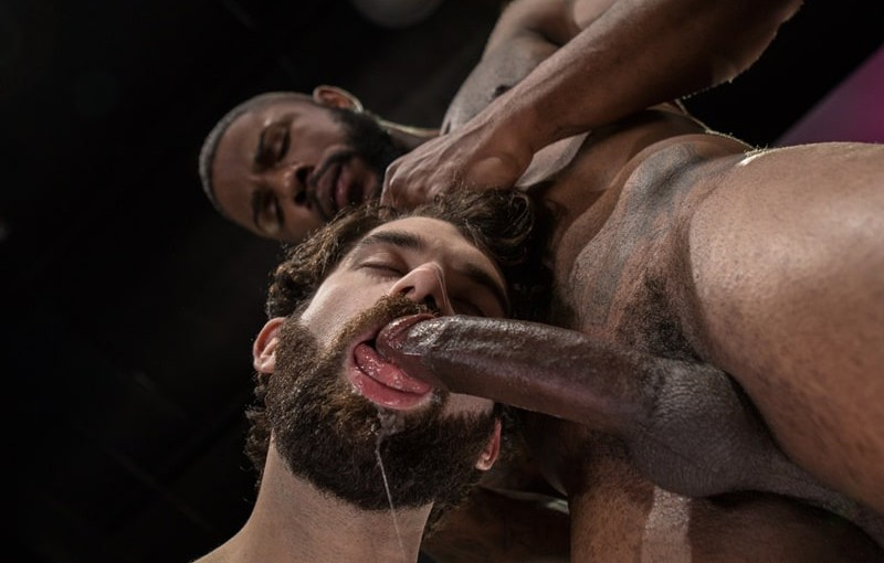 Giovanni Valentino slips his big cock inside the hairy hunk Tegan Zayne and pumps away