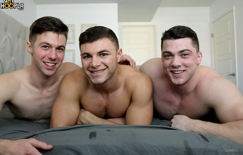 Hot gay 3-way fuck with Caden Carli, Alex Griffen, and Collin Simpson
