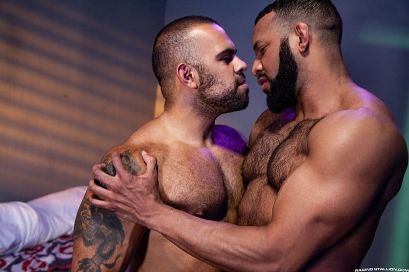 Men for Men Blog Jay-Landford-Lorenzo-Flexx-bareback-fucking-big-black-cock-muscle-ass-hole-RagingStallion-008-gay-porn-pictures-gallery Jay Landford takes ownership of Lorenzo Flexx's hole with passionate kisses and long driving thrusts of his raw glistening cock Raging Stallion