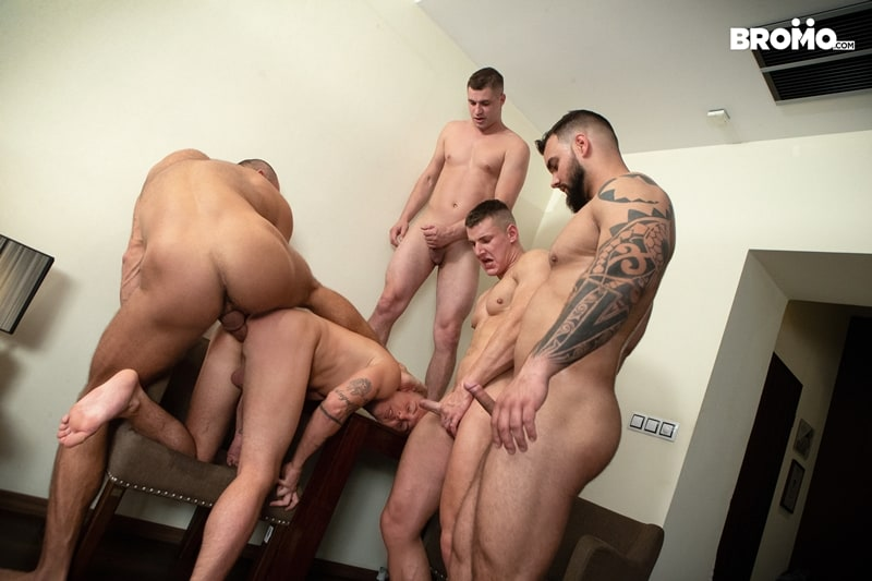 Bromo-Hot-naked-sub-dude-four-masked-men-bareback-fucking-ass-holes-013-gay-porn-pictures-gallery