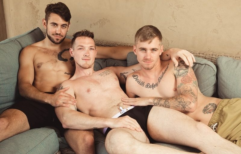 Hardcore ass fucking threesome with Jackson Cooper, Ryan Jordan and Dante Colle big dick sucking