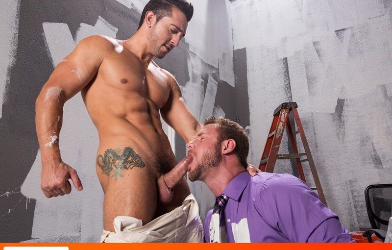 Jimmy Durano teases Ace Era's hot ass hole with the tip of his cock before fucking his thick cock deep inside