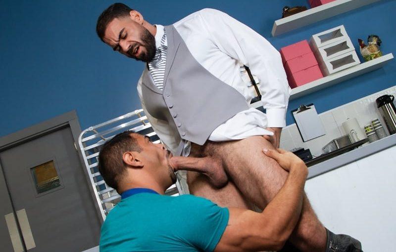 Ricky Larkin's big cock slams Draven Navarro's tightmuscle hole bareback