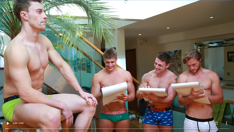 Circle jerk wank session with Aaron Janes, Tyler Hirst, Cameron Donald and Wesley Seaton
