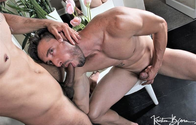 Marcos Oliveira's huge 9 inch uncut dick barebacking Valentino Sistor's hot bubble ass