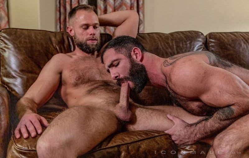 Hairy muscle hunks Jake Nicola's hot furry asshole fucked hard by Zayne Roman's huge dick