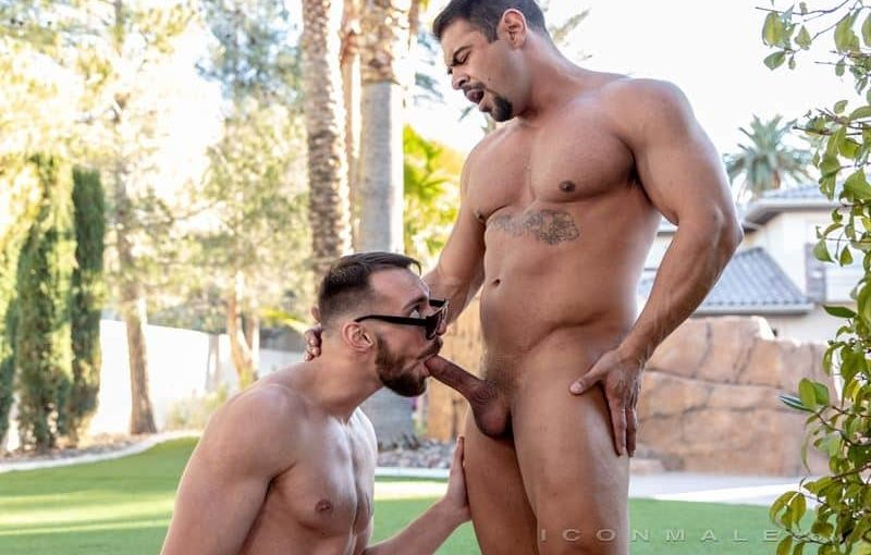 Hot Latino muscle hunk Draven Navarro's huge thick dick fucking Johnny B's tight bubble ass