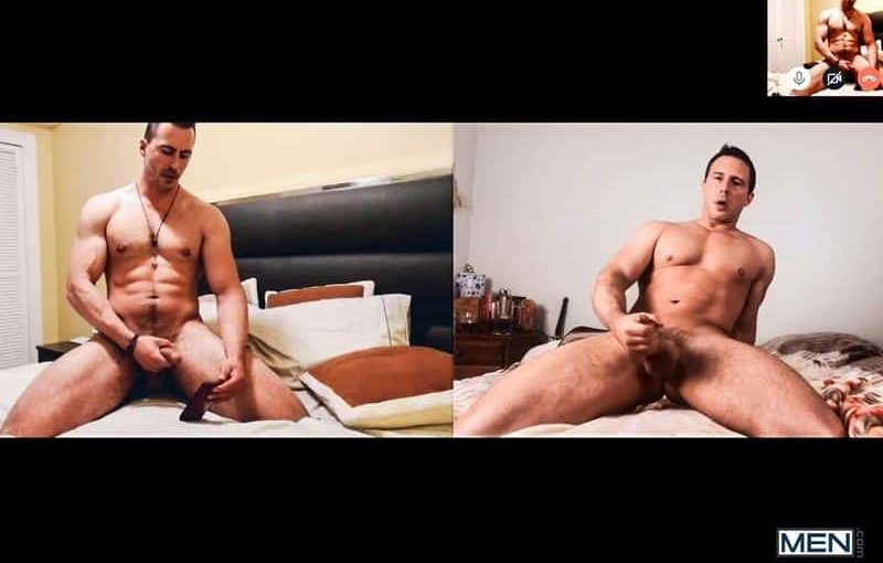 Reese Rideout coaches new gay porn star Joey Steel mutual big cock jerk off