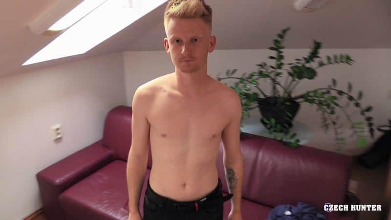 Straight young European dude first time ass fucking virgin cock sucker at Czech Hunter 536