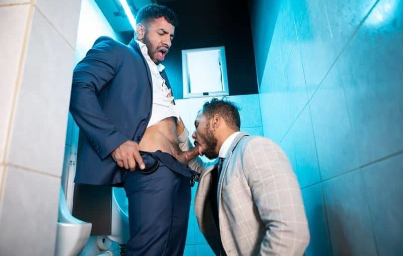 Sexy Latino muscle hunk Mateo Zagal's huge thick dick raw fucks hottie Latin dude Milo Madera's bubble ass