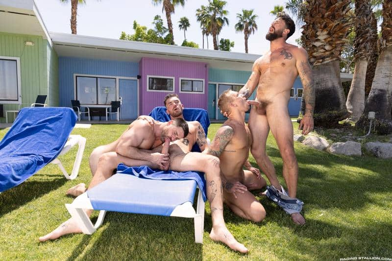 Gay hardcore outdoors foursome Chris Damned Isaac X Beau Butler Alpha Wolfe bareback anal fucking 0 gay porn pics - Gay hardcore outdoors foursome Chris Damned, Isaac X, Beau Butler and Alpha Wolfe bareback anal fucking